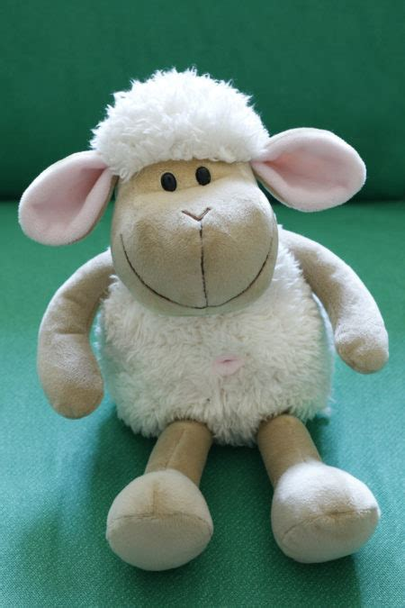 Small Cream Belly Button Sheep (4-pack)