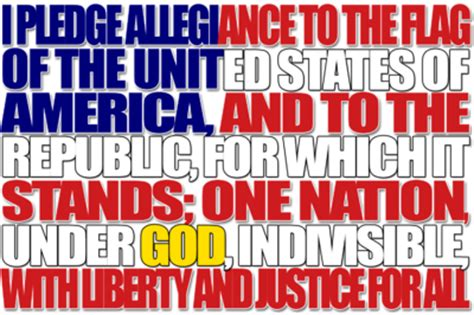 Image: Pledge of Allegiance | 4th of July Clip Art