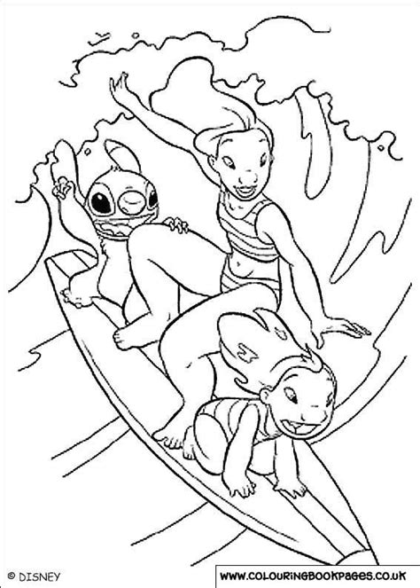 Lilo and Stitch Colouring Pages | 31 Character Print Off
