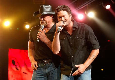 Blake Shelton's First Bromance Was With Trace Adkins