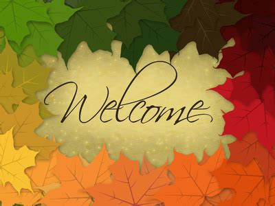 Image: Welcome | PowerPoint Themes - Rainbow Leaves