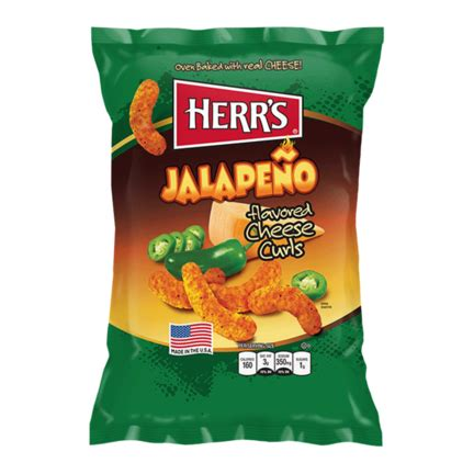 Herr´s Jalapeno Poppers Cheese Curls (198 g) - Tasty