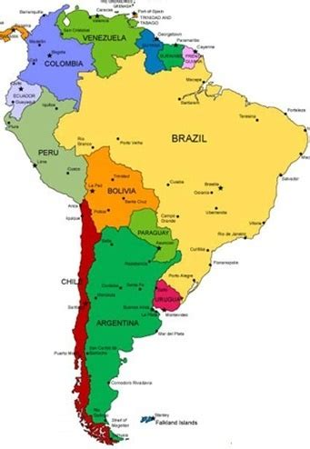 Backpack South America | South america map, South american