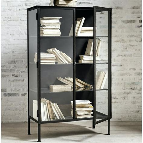 Iron Cabinet Industrial Style Iron Wood Display Cabinets