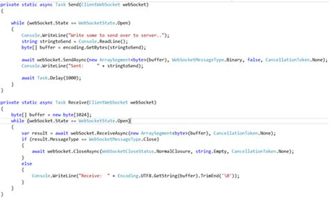 Websocket - Server Using HttpListener and Client With