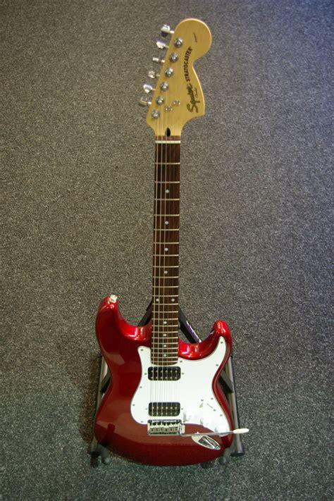 Squier Standard Strat in Red Finish Modded with Dual