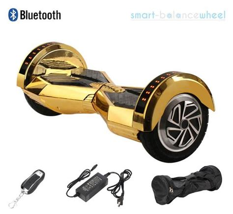 """8"""" Gold Hoverboard With Bluetooth Speakers and Lights"""