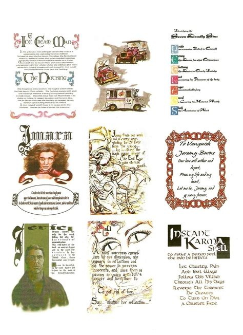 Book Of Shadows Replica Pages · A Journal · Art on Cut Out